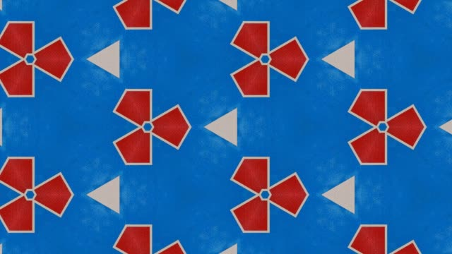 No entry sign with fractal hexagonal tiling HD video video