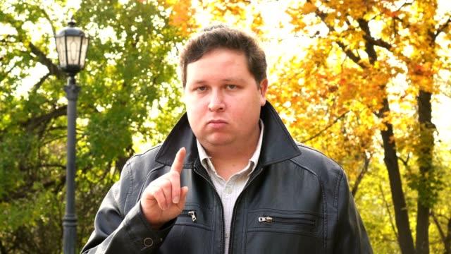 No, Man Denying Offer by Waving Finger, Rejecting. video