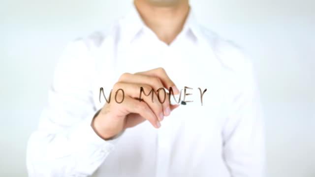 No Money, Man Writing on Glass video