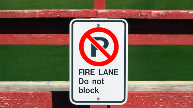 No Parking Traffic Sign, Close Up Street Symbol Slow Zoom video