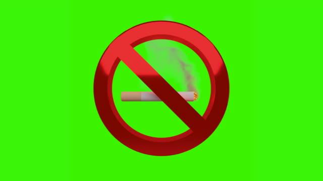 No smoking sign chroma key