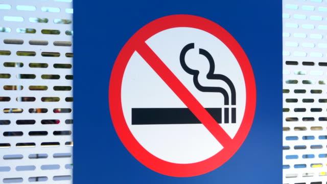 No Smoking Sign, Cigarette Forbidden Symbol, Moving Background video