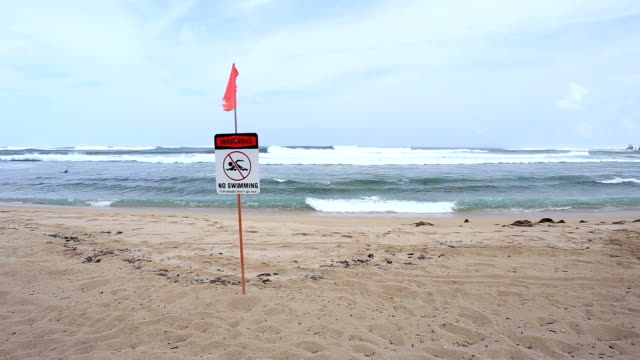 No swimming sign video