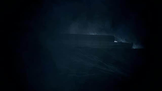 arche noah unter einem regen sturm in der großen flut - tora stock-videos und b-roll-filmmaterial