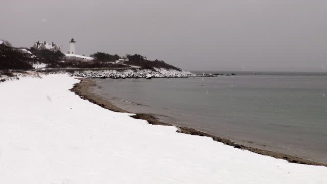 Nobska Beach in Falmouth on Cape Cod