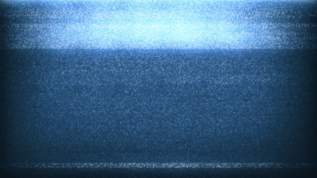 4k tv noise - blue (with sound) - television industry stock videos & royalty-free footage