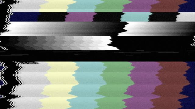 noise on analog tv screen | loopable - analogiczny filmów i materiałów b-roll