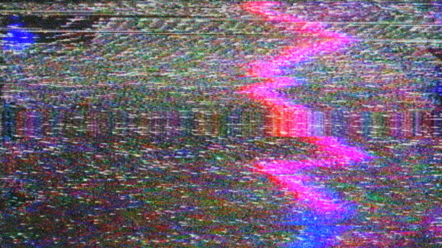 Noise on Analog TV Screen VHS