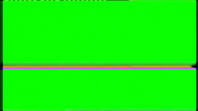 VHS noise on the green screen video