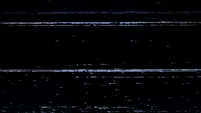 Noise on TV screen. Bars of analog TV static moving. video