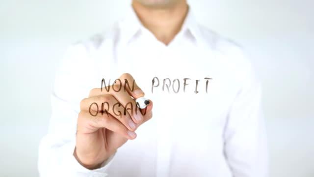 Non Profit Organization, Man Writing on Glass video
