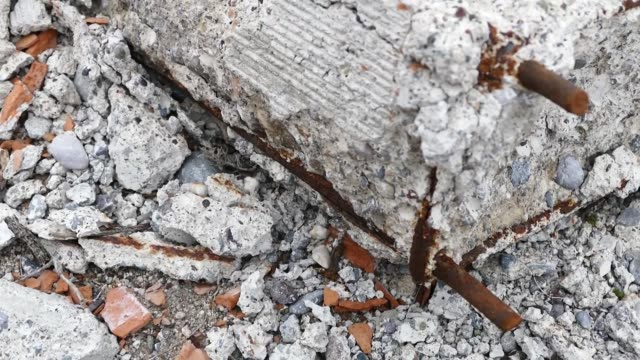 non-durable concrete, rotten concrete and rusty iron, non-durable concrete, rotten concrete and rusty iron, durability stock videos & royalty-free footage