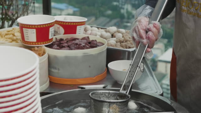 Noodle Traditional Asian street food. video