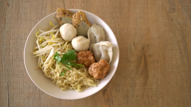noodles bowl with fish ball