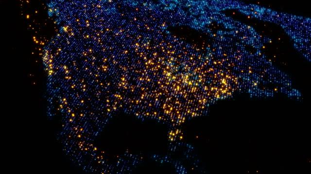 Video North America USA Canada map
