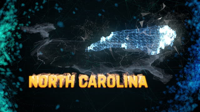 North Carolina US federal state border map outline, news events, exit polls