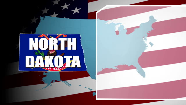 North Dakota Countered Flag and Information Panel video