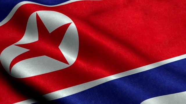 Nordkorea flagga video