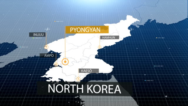 North Korea map with label then with out label video
