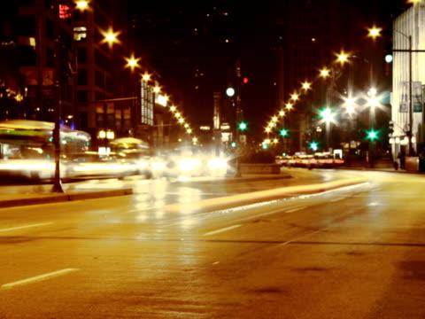 north michigan avenue time lapse ntsc - soft focus video stock e b–roll