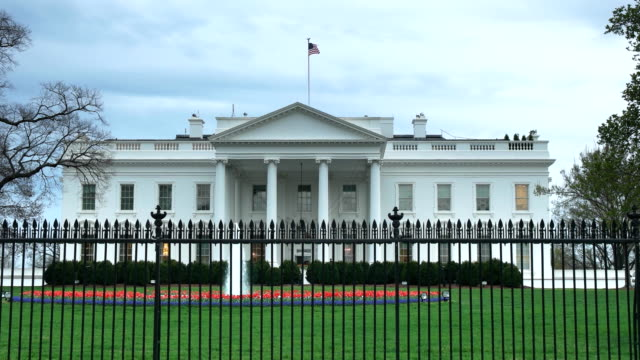 north side of the white house washington d.c. on a cloudy spring afternoon the north side of the white house in washington d.c. on a cloudy spring afternoon president stock videos & royalty-free footage