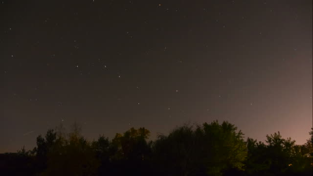 North Sky Stars, Big Dipper, Night Time Lapse video