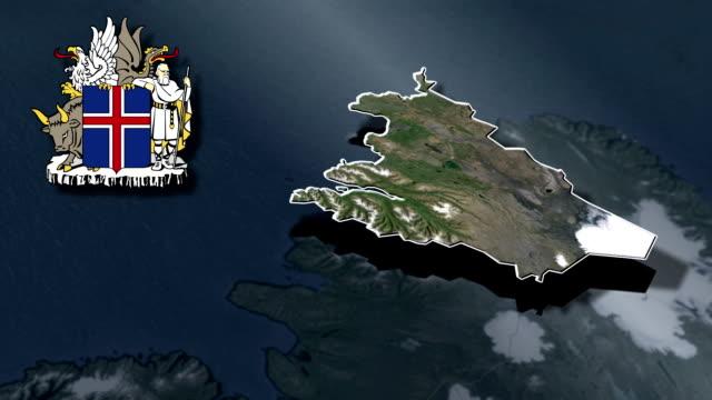 vídeos de stock, filmes e b-roll de nordeste da região whit brasão animation mapas - insígnia