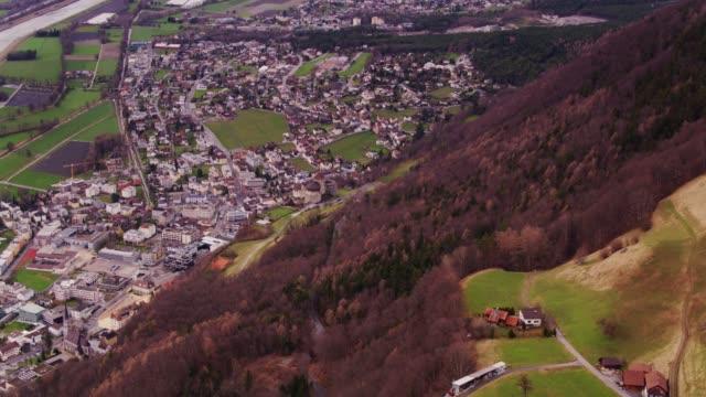 Northern Liechtenstein and the Rhine - Drone Shot video