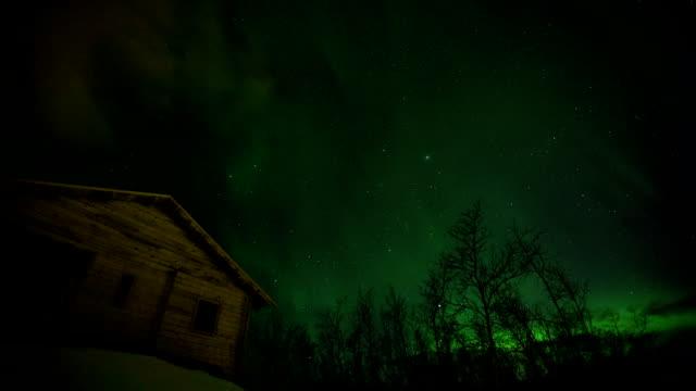northern lights aurora borealis - norrbotten bildbanksvideor och videomaterial från bakom kulisserna