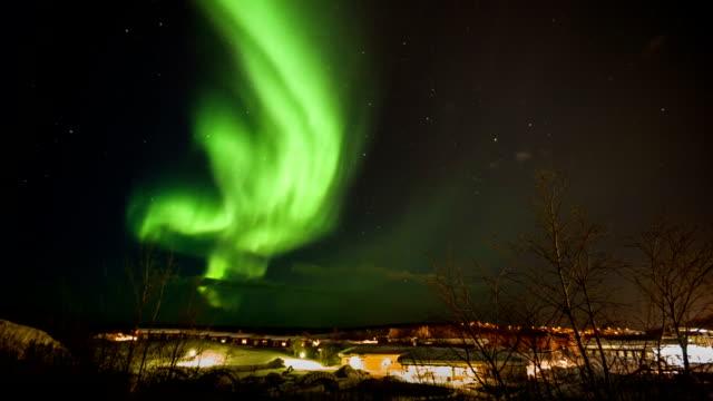 vidéos et rushes de northern lights aurore boréale - suede