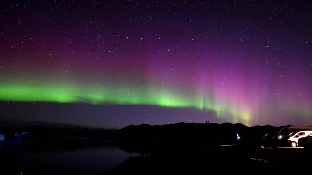 Northern lights over the Glacier Lagoon video