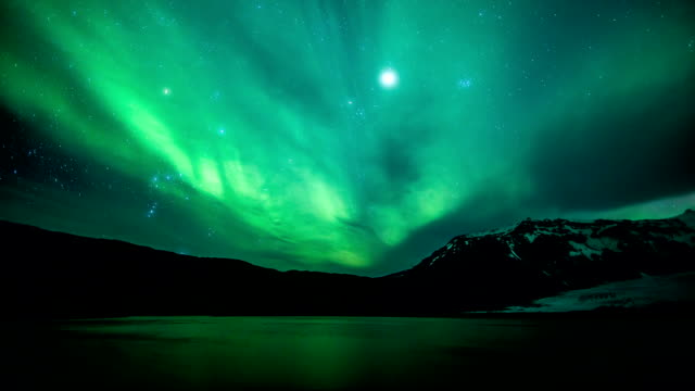 Northern lights (Aurora Borealis) timelapse video