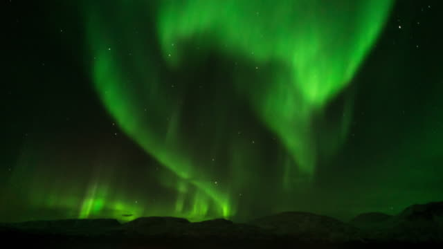 northern light,time lapse. - aurora boreale video stock e b–roll