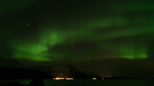 Northern Light,Time lapse.
