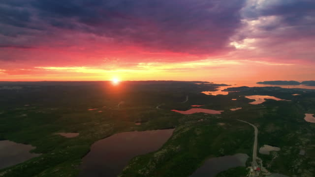 nordens natur - solnedgången på sjön - finland bildbanksvideor och videomaterial från bakom kulisserna