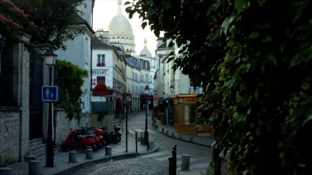 Norvins Street in Montmartre, Paris