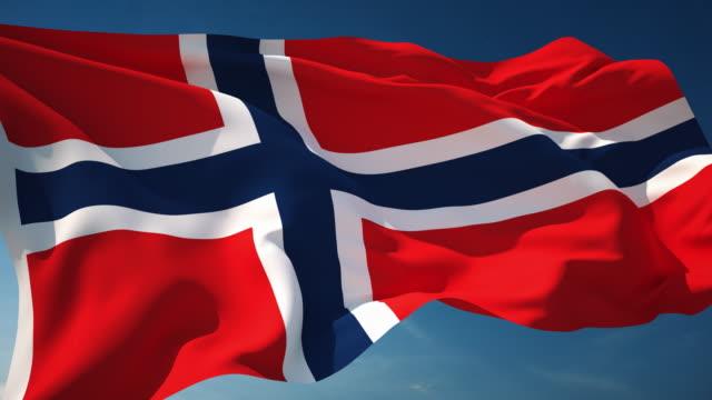 4 K Norwegen Flagge-Endlos wiederholbar – Video