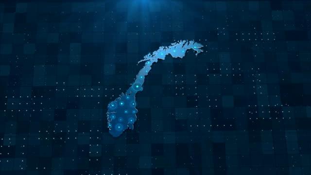 4k norge karta länkar med fullständig bakgrundsinformation - sweden map bildbanksvideor och videomaterial från bakom kulisserna