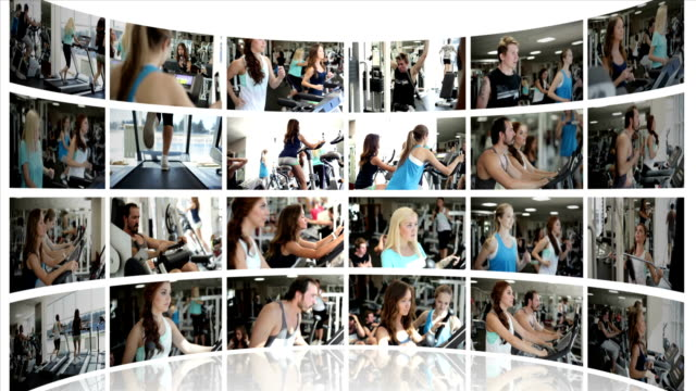 Not Moving Montage Presentation of a Fitness Centre video