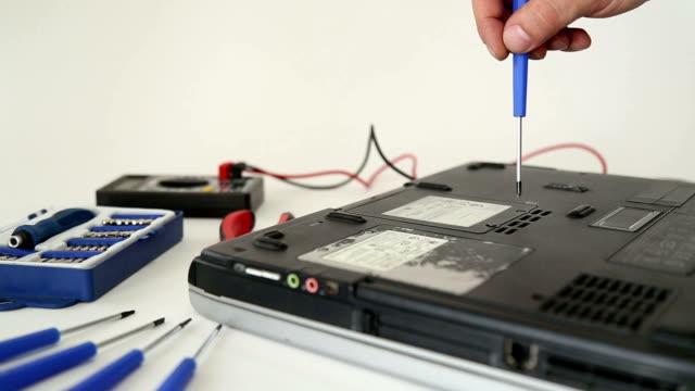 portatile di riparazione - giuntura umana video stock e b–roll