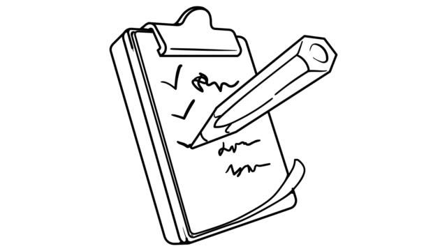 Notebook whiteboard animation 4K footage
