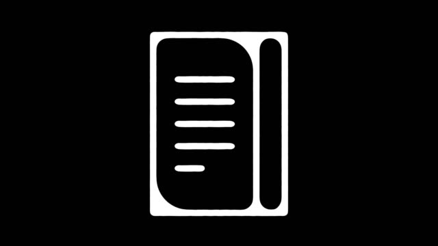 Notepad Planner Hand Drawn Line Animation with Alpha Notepad planner motion graphic hand drawn line icon animation. Alpha channel will be included when downloading the 4K Apple ProRes 4444 file only. survey icon stock videos & royalty-free footage