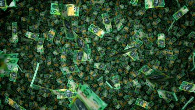 $100 Notes Raning Down - AU Money video