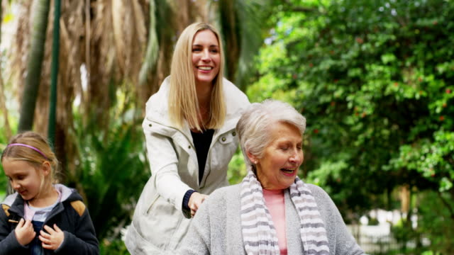 Nothing inspires happiness like fresh air 4k video footage of a senior woman in a wheelchair spending time with her daughter in the park wheelchair stock videos & royalty-free footage