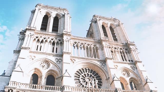 Notre Dame Cathedral, Paris, France. Circa 2019, Before de Fire.