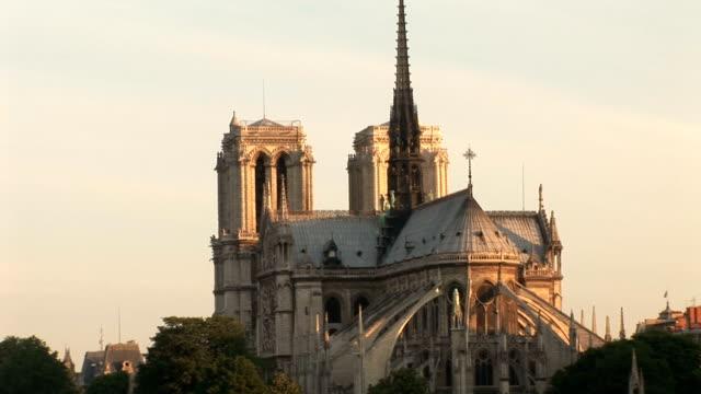 notre-dame di parigi, cattedrale - gargoyle video stock e b–roll