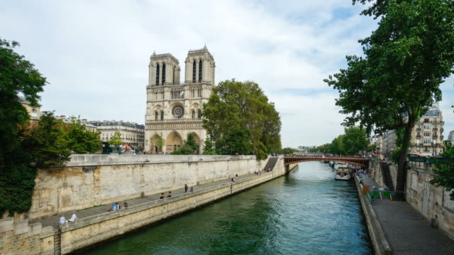 Notre Dame de Paris,  France 4K time lapse video