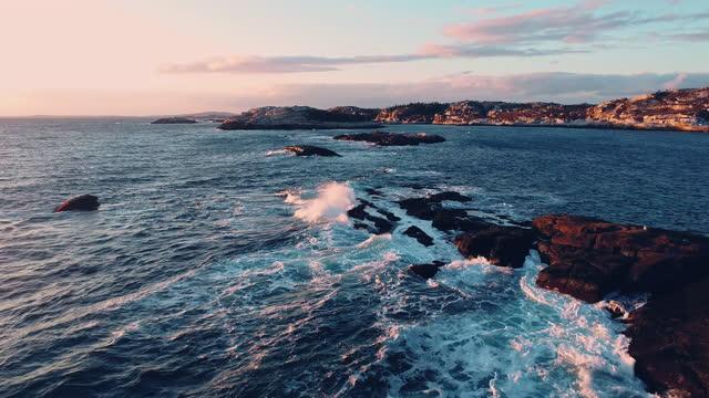 ノバスコシアの海岸線 - 大西洋点の映像素材/bロール