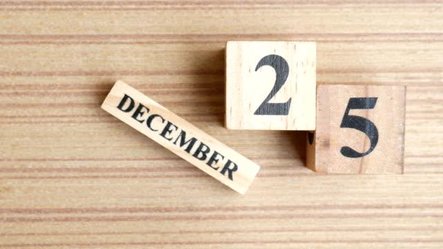 11 月 25 日カレンダー - 十二月点の映像素材/bロール