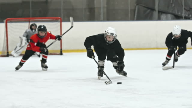 Novice Players Fighting for Puck video